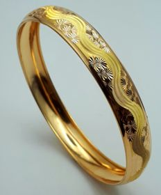 10 g 22 Ct Fine Gold Ladie's Bullion Bangle , *** INVEST IN BULLION JEWELERY ****