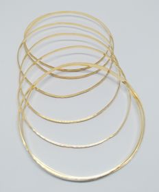 18 kt yellow gold weekly - Inner measurement: 6.8 cm