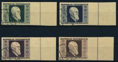Austria - 1946 - Renner set imperforate from right sheet edge, Michel 772B - 775B