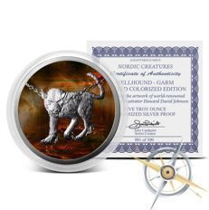 USA - Nordic Creatures - Hellhound - Garm 2017 - 5 oz 999 silver - proof + colour edition - with certificate - only 500 pieces worldwide
