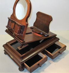 Very rare table stereo observer, graphoscope, cards 9 x 18, drawers