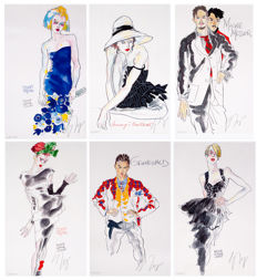 Wolfgang Joop - 'Hommage an Schiele', 'What Do You Want', 'More Is Not Enough', 'Mackie Messer', 'Grunewald', 'Flora'