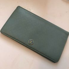 Chanel - large leather wallet