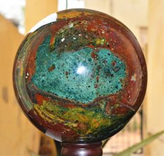 Huge Natural Bloodstone Sphere Ball - 20 cm - 12400 gm