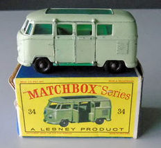 Moko Lesney Matchbox - Unknown scale - Bus Volkswagen Camping Car No.34