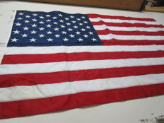 original U.S. Stars & Stripes flags with embroidered stars:  2 items.