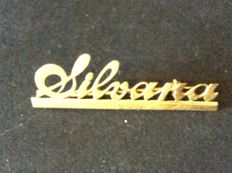 Brooch with Silvana writing in 18 kt gold - 4.5 cm