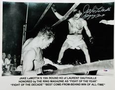 Jake LaMotta -  Authentic & Original Signed Autograph in a Amazing Professional Photo ( 40x50 cm ) - with Certificate of Authenticity PSA/DNA