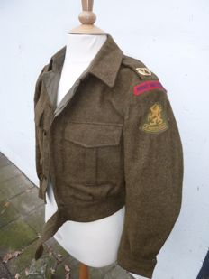 Old uniform jacket NL Army battle dress