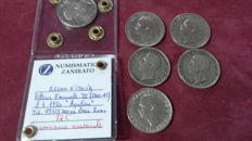 Italy, Kingdom – Lot of 6 coins, Vittorio Emanuele III (6 coins) – Silver