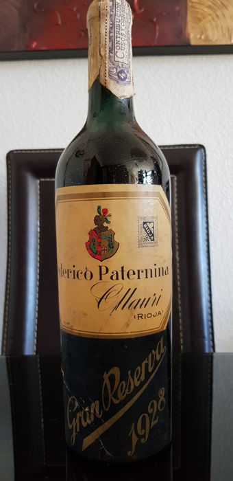 1928 Paternina Gran reserva x 1 bottle