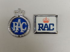 Original Vintage RAC Royal Automobile Club Plastic Aluminium and Metal Oblong Car Badges Auto Emblems