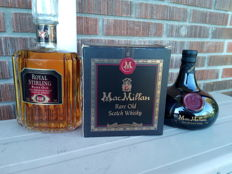 2 bottles - MacMillan Rare Old Scotch Whisky and Royal Stirling Rare Old 100% Premium Malt