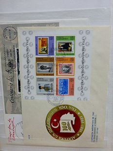 European countries - various stamps and covers in 3 stock books and plastic folder