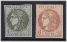 France 1870 – Yvert 30A and 40B