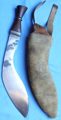 Unusual and Unique WW2 British Army Gurkha Regiment Kukri and Scabbard