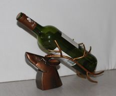 Wine bottle holder deer head - Christmas