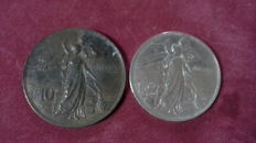 Italy, Kingdom – Lot of 2 coins, Vittorio Emanuele III (2 coins).