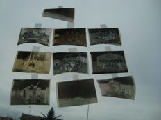 10 original analogue negatives pictures of soldiers, generals, plane 1st war, France