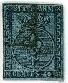 Parma 1852 - 40 cent Light blue - Sassone No.  5