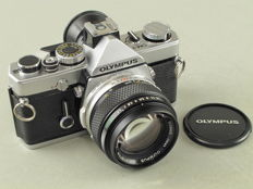 Olympus OM1, with the large aperture Zuiko  AUTO-S 1.4/50mm lens