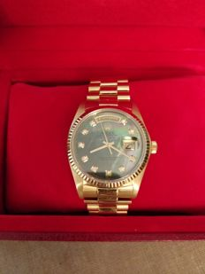 Rolex-18 kt gold Oyster Perpetual Day-Date President