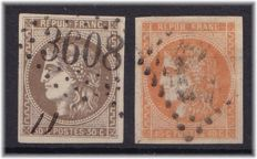 France 1870 – Yvert 47 and 48