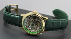 Thomas Earnshaw - Men's Bauer Green Skeleton - Hand-wound Mechanical Watch, Cufflinks and Luxury Giftbox