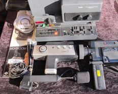 LOT: 1 Projector BAUER T 525 Microcomputer - 2 Cameras: Canon 514 XL-S & Agfa Movexoom 3000 & 3micros-1971/78/79