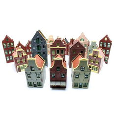 Holland Scale H0-Scenery-Set with 19 Dutch style houses