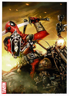 Deadpool - Signed Limited Edition Poster - Hand Signed - Fernanda Rizo