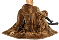 Soft and cuddly high value shorn Nutria coat fur coat real fur like lambskin