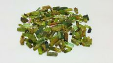 Beautiful Mixed Color Tourmaline Rough Crystals  L 5-15mm,,W 2-4mm.  91 ct
