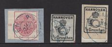 German States Hannover 1859/1864 - Michel 13, 17 and 22x