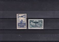 France 1936 – 100th crossing of the South Atlantic including signed Calves – Yvert no. 320/321