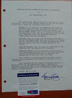 Curious musical contract signed by country legend Kenny Rogers, with authenticity certificate PSA / DNA
