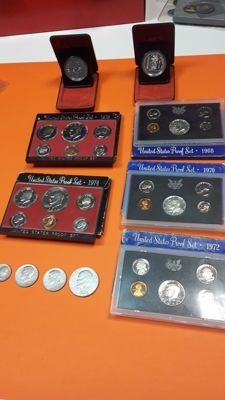 United States and Canada - Lot of divisional series + single coins