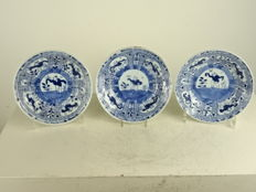 Three porcelain dishes - China - first half 18th century