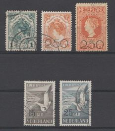 The Netherlands 1898/1951 - Coronation guilder, Clearance Sale and Airmail Seagulls - NVPH 49, 104/105 LP12/LP13.