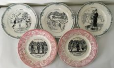 St Amand, five special plates with comic strips