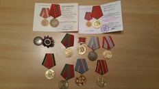 Russia/USSR - 10 Medals and 1 silver order