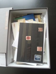 Germany 1880/1950 - German Reich and BRD. Lot to be sorted in bags, booklets and cards.