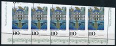 Federal Republic of Germany - 1998 - 'Würzburg Residence' 1/2 sheet of the bottom edge, perforate, Michel 2007