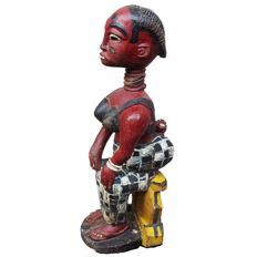 COLON FIGURE Baule Ivory Coast   48 cm   19 in