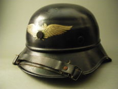 State Air Protection Corps (RLB) Helmet, 100% original, WWII