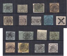 Papal State 1852-1868 - Selection of stamps - Sassone No. 2/9