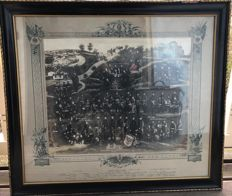 Frame of photo collage as a reminder of the military service