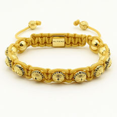 18 kt yellow gold Shambhala bracelet with 1.11 ct diamonds