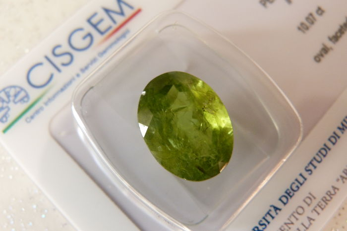 Green Peridot of 10.07 ct (No Reserve Price)