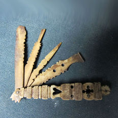 Antique pipe cleaner, stopper in bone, prisoners of war, Napoleonic age, early 19th century